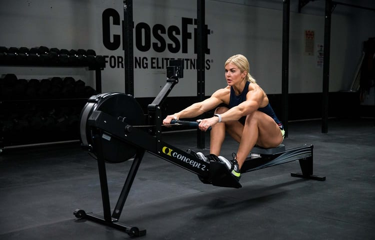woman on air rower