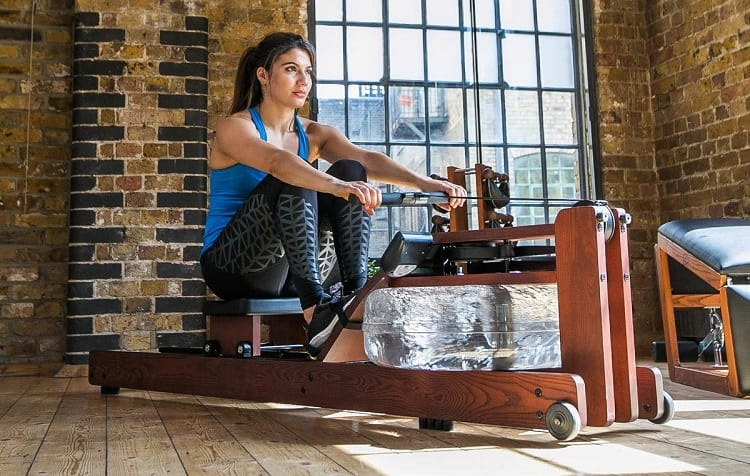 rowing machine with water resistance